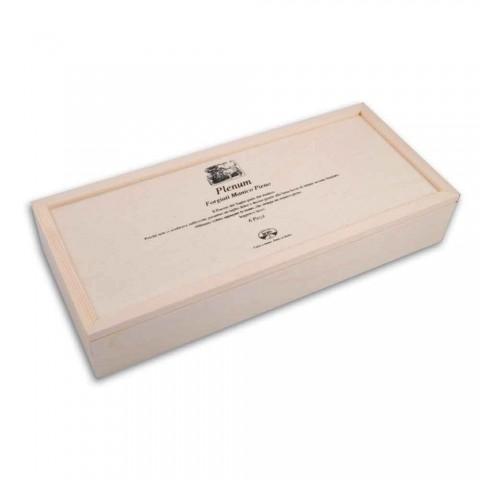 6 Berti Plenum Messer mit glatter Klinge exklusiv für Viadurini - Andalo