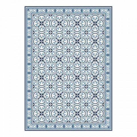 6 amerikanische gemusterte Tischsets aus PVC und waschbarem Polyester - Lindia