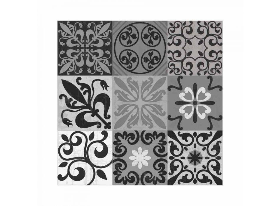 6 elegante Tischsets aus PVC und Polyester mit schwarzem oder grauem Muster - Pita