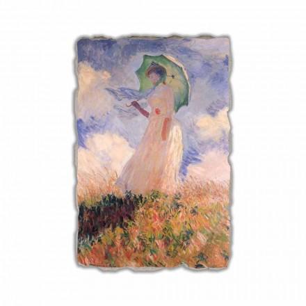 Fresko Claude Monet  Frau mit Sonnenschirm