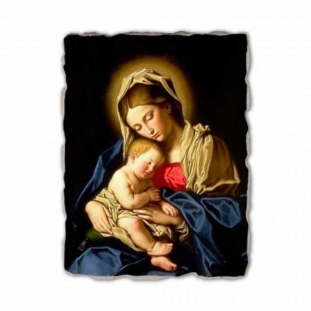 Fresko Giovanni Battisti Salvi  Madonna mit dem schlafenden Kind