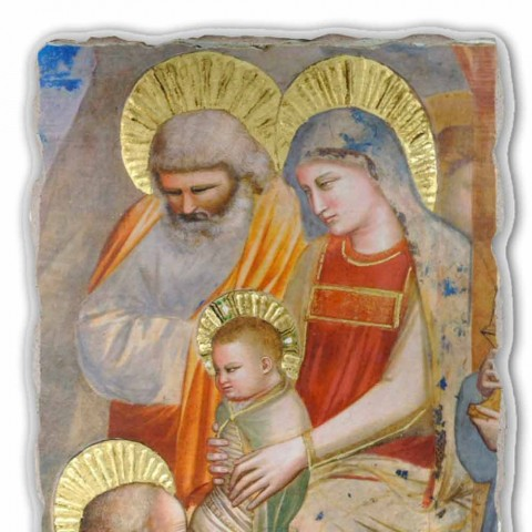 """Giotto Fresko """"Anbetung der Könige"""" in Italien handgefertigt"""