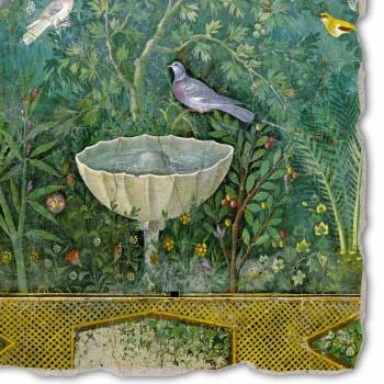 """großes Fresko römische Kunst """"Garten mit Hermes und Fontana"""" teil."""