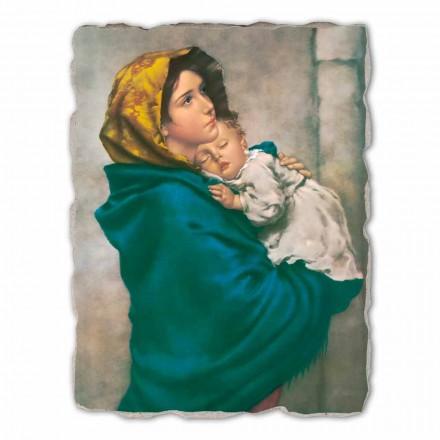 Großes Fresko Roberto Ferruzzi Madonna auf der Straße