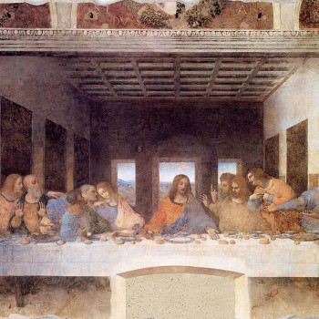 "großes Fresko handgemachte Leonardo da Vincis ""Letztes Abendmahl"""