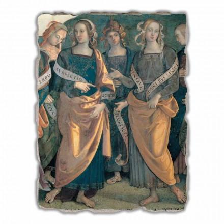 Großes Fresko von Perugino Gottvater mit Propheten und Sibyllen ein Abschnitt