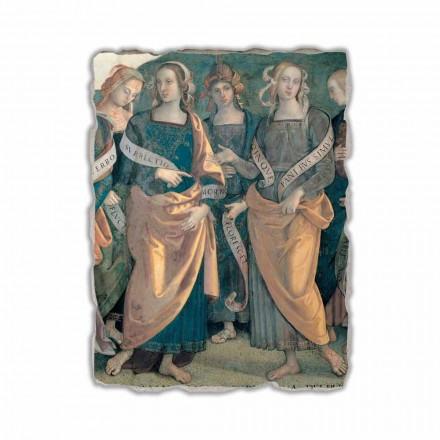Fresko von Perugino Gottvater mit Propheten und Sibyllen ein Abschnitt