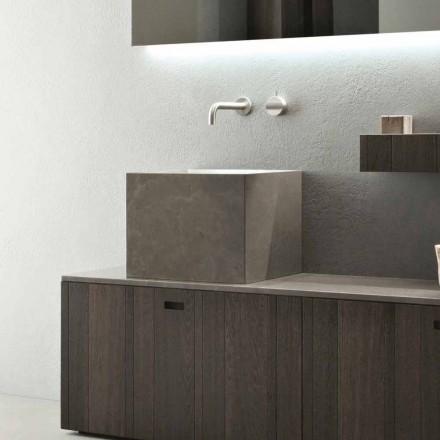 Modernes Design Counter Top Square Steinwaschbecken - Farartlav1