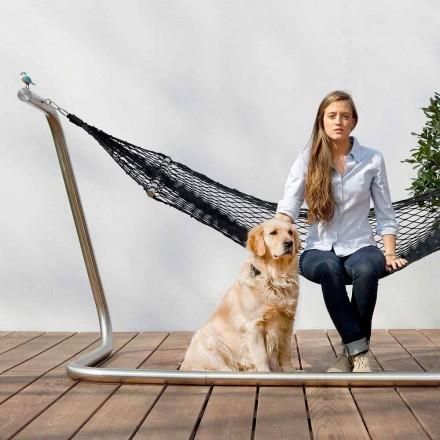 Stahl Hängematte und Black Garden Net Design Made in Italy - Cumberland