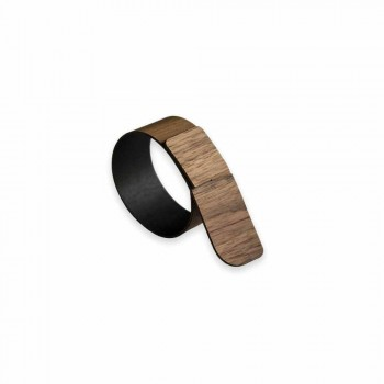 Ring Serviette Ring aus Holz und Stoff Made in Italy - Abraham