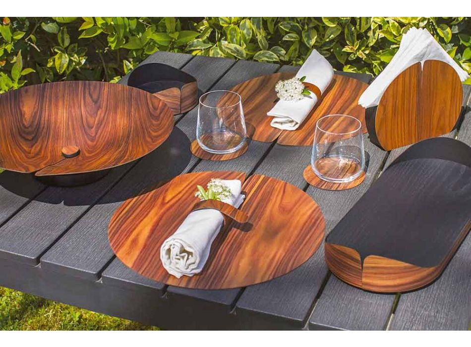 Modernes Design Holz Serviettenring Made in Italy - Stan