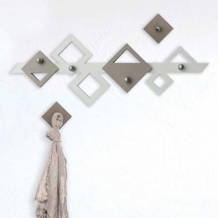Weißer und beiger hölzerner Wandhalter Modernes geometrisches Design - Klimt