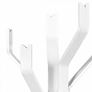 Andrea weißer Kleiderbügel mit 5 Haken, modernes Design