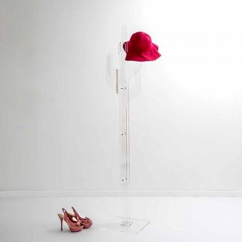 Boden-Kleiderbügel des transparenten Entwurfs des Kaktus transparenten, hergestellt in Italien