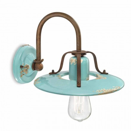 Wandlampe Country aus Metall und Keramik Gladys Ferroluce