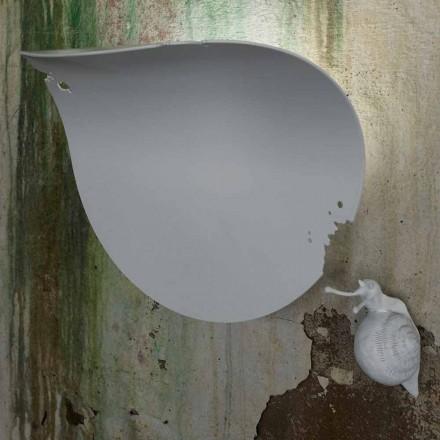 Design Leaf Wandleuchte aus weißer Keramik und Schnecke - Schneckendekoration