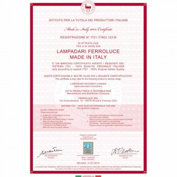 Applikationen verziert keramische Wand- und Glas Ferroluce Ferrara