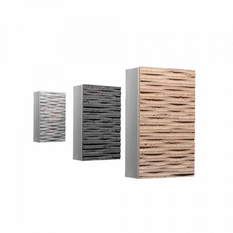 Wandleuchte aus Stein und Metall Serafini Marmi Pedra hergestellt in Italien