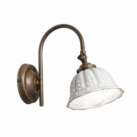 Wandlampe aus Keramik Anita im Liberty Design von Il Fanale