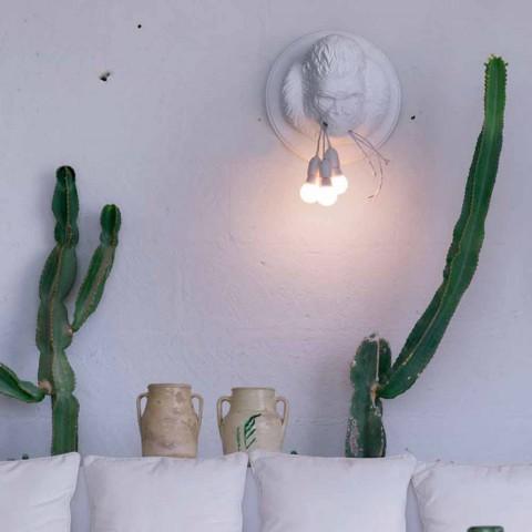 3 Lichter Wandleuchte in Gorilla Ceramic Grey oder White Design - Rillago