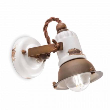 Wandlampe verstellbar aus Keramik und Metall Kendro Ferroluce