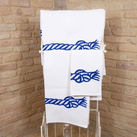 Handgefertigtes Handtuch aus Baumwolle Einzigartiges Stück Made in Italy