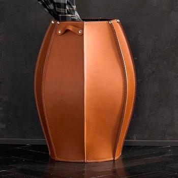 Audrey Schirmständer mit modernem Design in Leder, made in Italy