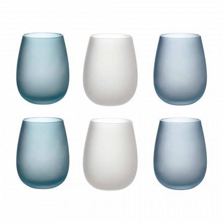 Wassergläser aus farbigem Milchglas Komplettservice 12 Stück - Herbst