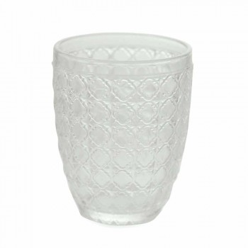 6 Stück Serviergläser aus transparentem Glas für Wasser - Optisch