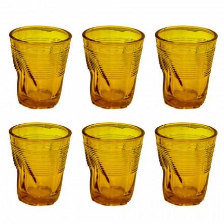 Moderne farbige Glaswassergläser 12 Designstücke - Sarabi
