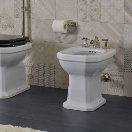Weißer Keramik-Vintage-Stil Made in Italy Bidet - Nausica