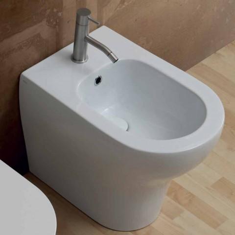 Modernes Design aus weißem Keramik-Bidet 54x35 cm, hergestellt in Italien