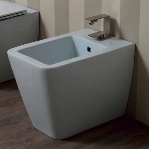 Modernes Design aus weißem Keramik-Bidet Sun 55x35 cm hergestellt in Italien