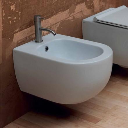 Hängendes Bidet aus Keramik, modernes Design Star 55x35 made in Italy