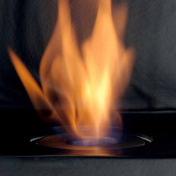 Biocamino Platte mit Keramik Bioethanol und Curtis Stahl