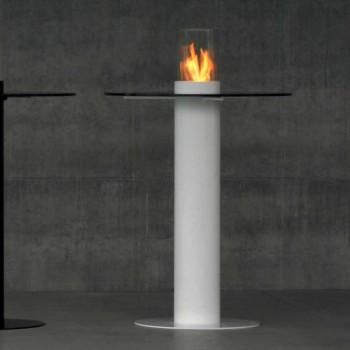 Biocamino Außen Bioethanol mit Glasplatte Dean-Tabelle
