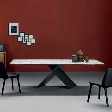 Bonaldo Ax Tisch, Keramik Tischplatte und Metall Basis, Design, Italy