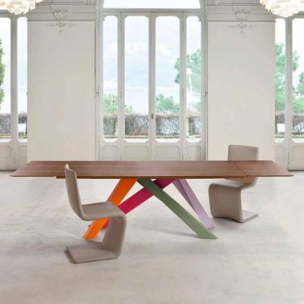 Bonaldo Big Table Ausziehtisch aus furniertem Holz made in Italy