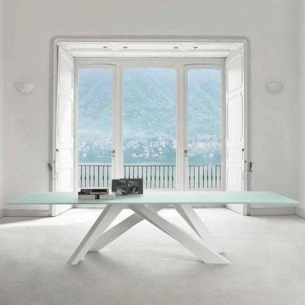 Bonaldo Big Table extra-heller Tisch von Design aus Kristall made Italy