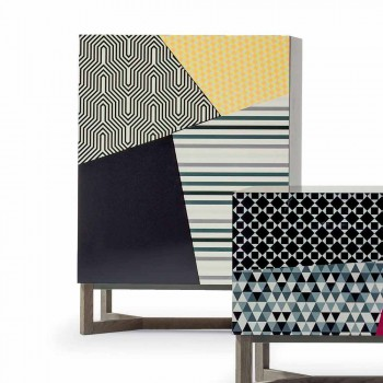 Bonaldo Doppler Massivholz Design Sideboard 128x90cm made in Italy
