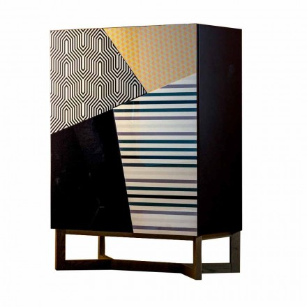 Bonaldo Doppler Anrichte aus Massivholz 128x90cm Design made in Italy