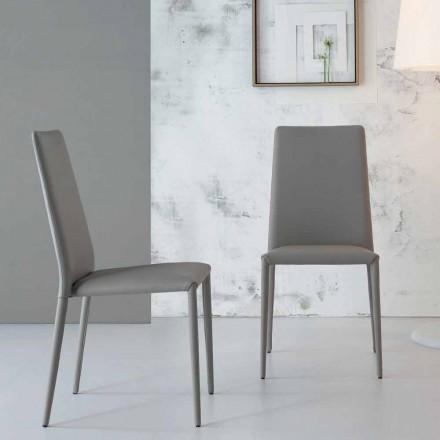 Bonaldo Eral gepolsterter Stuhl aus Leder, modernes Design,made Italy