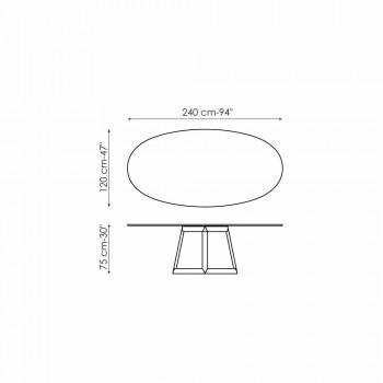 Bonaldo Greeny ovaler Tisch in Kristall und Holz Design Made in Italy