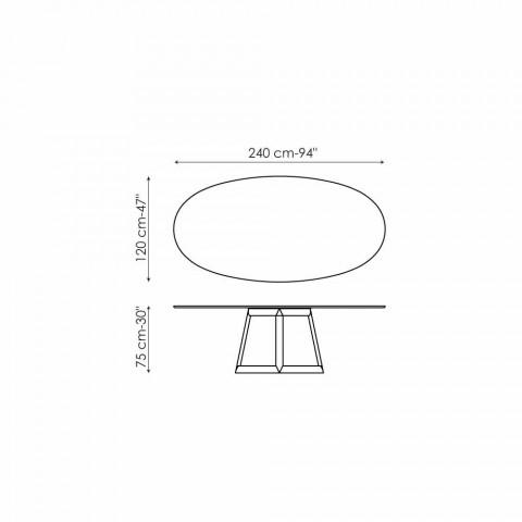 Bonaldo Greeny Design ovaler Tisch aus Marquinia Marmor in Italien hergestellt