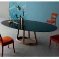 Bonaldo Greeny ovaler Tisch aus Marquinia Marmor, Design made in Italy