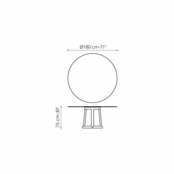 Bonaldo Greeny runden Tisch Design Marmor Emperador aus Italien