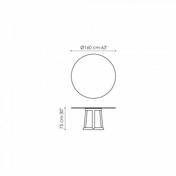 Bonaldo Greeny runden Tisch Design Carrara Marmorboden in Italien hergestellt