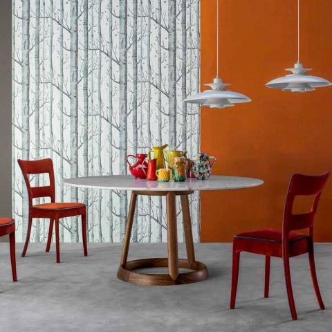 Bonaldo Greeny runder Tisch Calacatta Marmorboden aus Italien