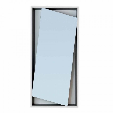 Bonaldo Hang Spiegelwand lackiertem Holz Design H185cm made in Italy