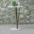 Bonaldo Kadou Tischchen aus lackiertem Stahl D39cm, Design made Italy